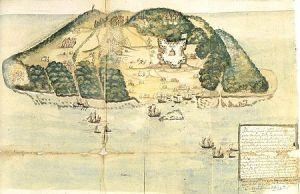 Islas Tortuga, Mapa del Siglo XVII